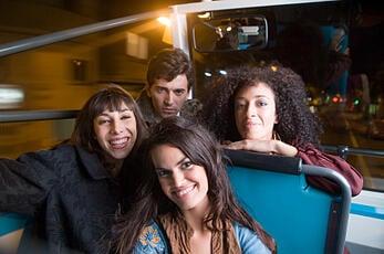 Millennials on a bus